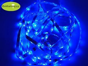 Hakkatronics, 5M SMD5050 LED RGB strips, Color Changing, None Waterproof IP20 White PCB 150LEDS, 12V