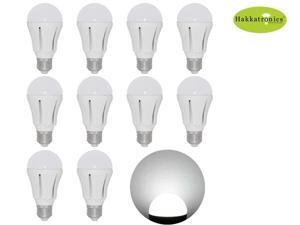 10 Pieces LED Bulb Light Lamp 12w A19/ A60 6000-6500k Cool White E26/E27 AC110v No Dimmable Bathroom Indoor Lighting Use