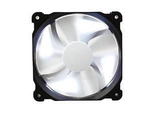 Phanteks 1300 RPM, Black Frame/White Blades 120 mm Case Fan, White LED with On/Off Switch PH-F120SP_BK_WLED