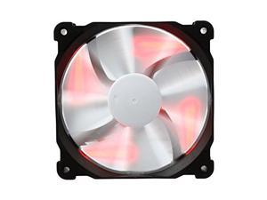 Phanteks 1300 RPM, Black Frame/White Blades 120 mm Case Fan, Red LED with On/Off Switch PH-F120SP_BK_RLED
