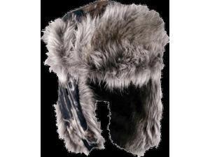 Mossy Oak Breakup Fleece Trapper Lined w/Fur Hat