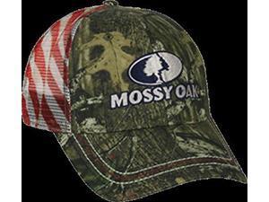 Outdoor Cap Mossy Oak Breakup Infinity Mesh Back w/USA Flag