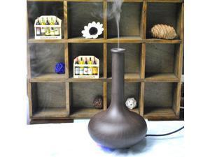 Ultrasonic Air Fragrance Aromatherapy Diffuser Aroma Humidifier Vase Shaped (Dark Oak)