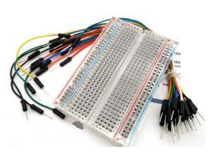 WWH-400-point Experiment Breadboard (Transparent) w/ Jumper Wires