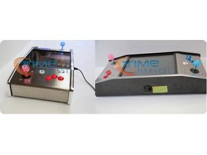 15 inch LCD Mini Stainless Steel Cocktail Arcade Machine with 412 in 1 PCB and long shaft joystick Illuminated button/cabinet