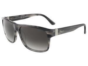 Salvatore Ferragamo SF639S 003 Stiped Grey Wayfarer sunglasses