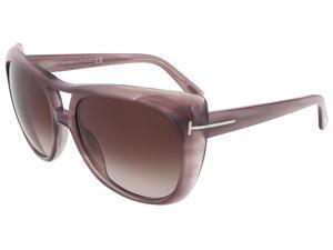 Tom Ford TF 294/S 83Z Claudette Purple Gradient  Aviator Sunglasses