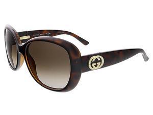 Gucci GG3644/N/S DWJ HA Havana Oval Gucci Sunglasses