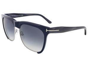 Tom Ford TF366 74B Thea Gunmetal/Blue Square Sunglasses