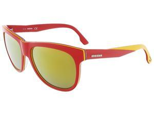 Diesel DL0112/S 68G Red/Yellow&Clear Wayfarer sunglasses