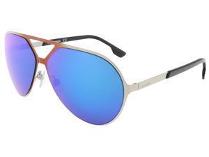 Diesel DL0114/S 14X Orange/Shiny Light Ruthenium Aviator sunglasses