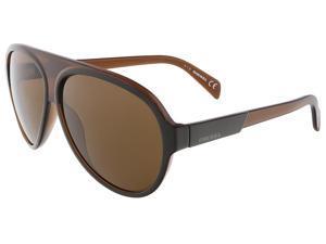 Diesel DL0138/S 50E Brown Teardrop Aviator sunglasses