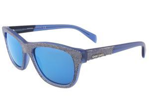 Diesel DL0111/S 92X Blue-Grey Denim Wayfarer sunglasses