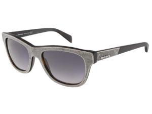 Diesel DL0111/S 52B Grey Denim/Matte Black Wayfarer sunglasses