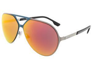 Diesel DL0114/S 16G Matte Teal/Shiny Light Ruthenium Aviator sunglasses