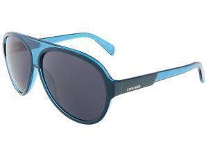Diesel DL0138/S 92V Teal Teardrop Aviator sunglasses