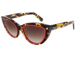 Dsquared DQ0170/S 55F Havana/Red Cat Eye sunglasses