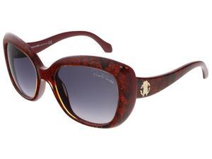 Roberto Cavalli RC828S/S 69T Shiny Bordeaux Glitter Snake Butterfly sunglasses