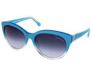 Roberto Cavalli RC 798S/S 92W ALBALDAH Acqua Gradient Cateye Sunglasses