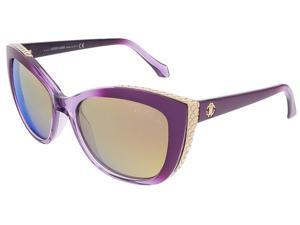 Roberto Cavalli RC888S/S 81C Shiny Violet Cat Eye sunglasses