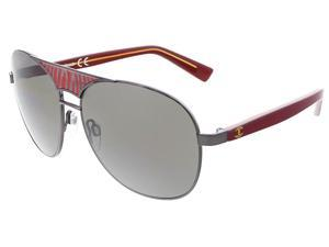 Just Cavalli JC 509 20A Black/Red Aviator Sunglasses