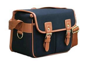 Westlinke Ghope Black Waterproof Vintage Canvas Camera Bag Messenger Bag for Canon 5DII 7D Nikon D90 DSLR Camera and Lens
