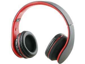 iRunzo On Ear Stereo Wireless Bluetooth Headsets Headphones with Mic 3.5mm Jack FM Radio TF Memory Card MP3 Noise Canceling Folding Strech for iPhone LG Samsung Sony PC Xbox Ps4 Gaming Sports(Red)