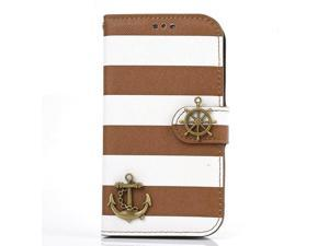 Shapotkina Handmade Rudder Wallet Case for Samsung Galaxy S3 SIII I9300 Anchor Helm Cover for Galaxy S3 Case Pouch
