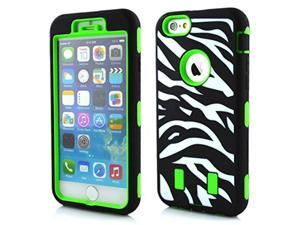 Usberry Fashionable 3in1 Zebra Stripe Hybrid Protective Case with Combo Defender Shockproof Function for Apple Iphone 5 5S +Usberry LOGO Stylus