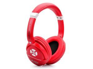 iRunzo K898 On Ear Stereo Cell Phone Wireless Bluetooth Headset Support Micro SD Card MP3 Outdoor Sports Headphone (Red)