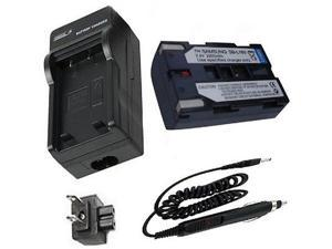 Battery +Charger for Samsung SCL810 SCL870 SCL901 SCL903 SCL906 SCL907 Camcorder