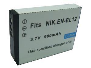 3.7v 1400mah BATTERY for Nikon EN-EL12 Coolpix S9100 P300 S6100 S710