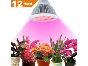 Plant Light,Newest Plant LED Grow Light E27 Growing Bulbs for Garden Greenhouse and Hydroponic Aquatic Plants Light Full Spectrum Growing Lamps in 3 Bands (12W)