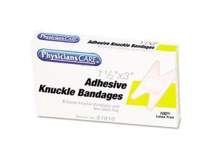PhysiciansCare 51010 Elastic Knuckle Adhesive Bandages- 4 x 2-1/2 x 5/8- 8/Box