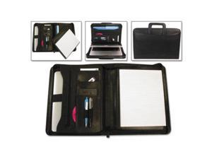 Tablet Organizer with Removable Pad Holder 14 1/4 x 2 1/2 x 11 1/4 Black