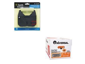 Shoplet Best Value Kit - Smith Corona 22200 Ribbon (SMC22200) and Universal C...