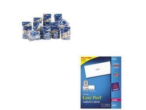 Shoplet Best Value Kit - Duck HP260 Packing Tape (DUC1288647) and Avery Easy ...