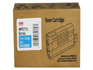 52123803 Cyan 11500 Page Yield Toner Cartridge for Okidata MPS711C Printer