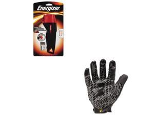 Shoplet Best Value Kit - Energizer Rubber Flashlight (EVEENRUB21E) and IRONCL...