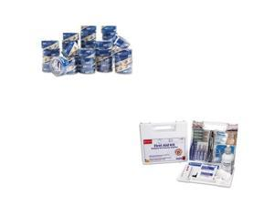 Shoplet Best Value Kit - Duck HP260 Packing Tape (DUC1288647) and FIRST AID O...