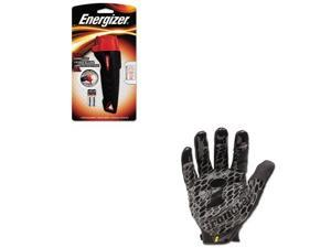 Shoplet Best Value Kit - Energizer Rubber Flashlight (EVEENRUB22E) and IRONCL...