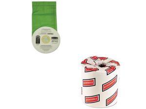 Shoplet Best Value Kit - Paper Vacuum Bags (RCP9VBPPB06) and White 2-Ply Toil...
