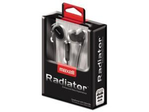 Maxell RAD-1 Radiator Enhanced Bass Earphones with In-line Mic MAX190345