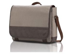 "Lenovo Casual Carrying Case (Messenger) for 15.6"", Notebook - Beige, Brown 2V..."