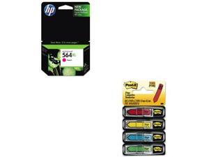 Shoplet Best Value Kit - HP 564XL (HEWCB324WN) and Post-it Arrow Message 1/2&...