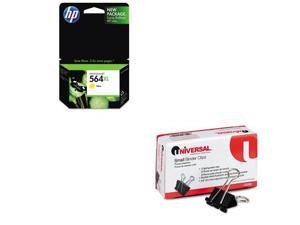 Shoplet Best Value Kit - HP 564XL (HEWCB325WN) and Universal Small Binder Cli...