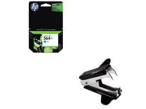 Shoplet Best Value Kit - HP 564XL (HEWCB323WN) and Universal Jaw Style Staple...