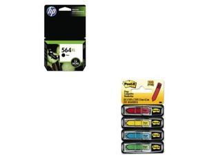 Shoplet Best Value Kit - HP 564XL (HEWCN684WN) and Post-it Arrow Message 1/2&...