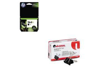 Shoplet Best Value Kit - HP 564XL (HEWCN684WN) and Universal Small Binder Cli...