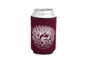 Costa Coozie Classic Maroon With White — One Size Fits All